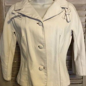 Diane von Furstenberg Cotton Canvas Bow Jacket